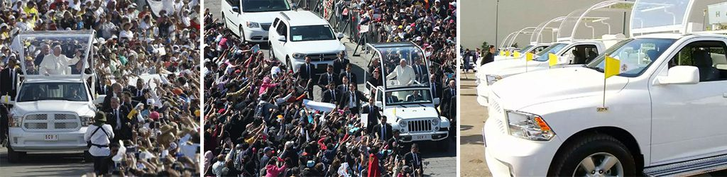 Pope Francis visits Mexico on Dodge and RAM