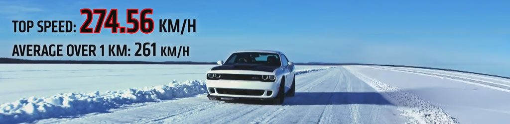 dodge challenger hellcat on ice