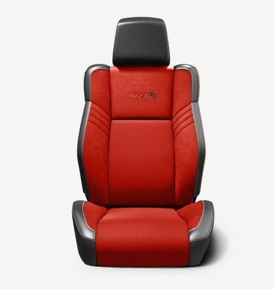 dodge challenger charger 2018 seats black red