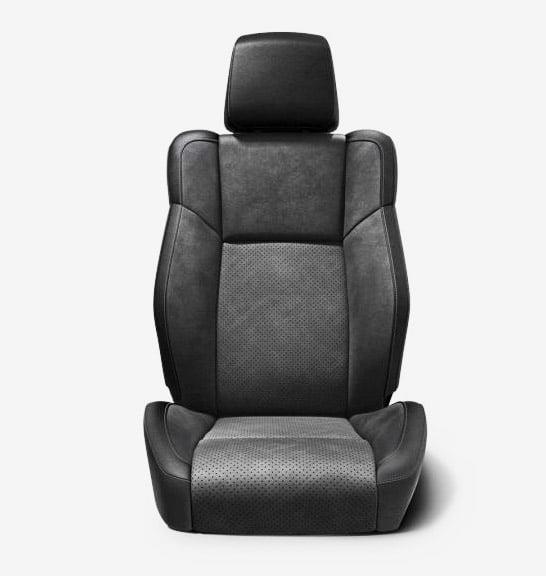 dodge challenger interior seating nappa alcantara leather black