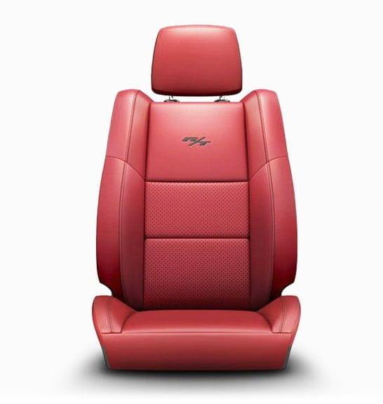 DODGE DURANGO INTERIOR LEATHER SEATS RED