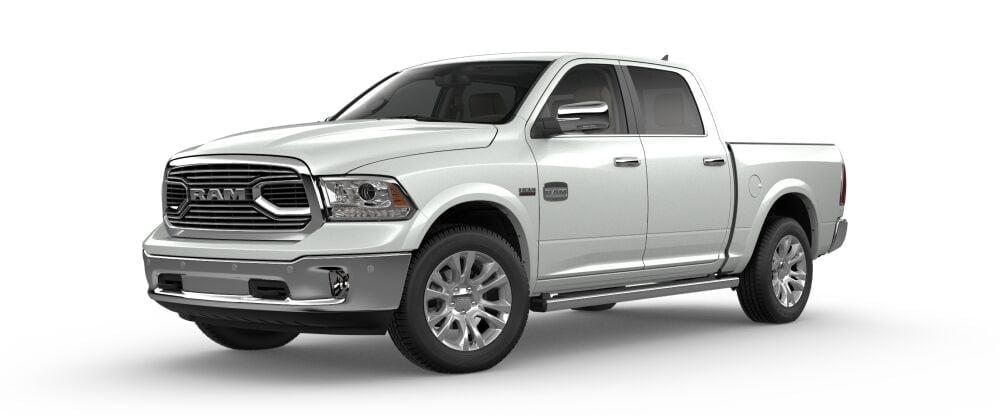 ram pickup 1500 longhorn white