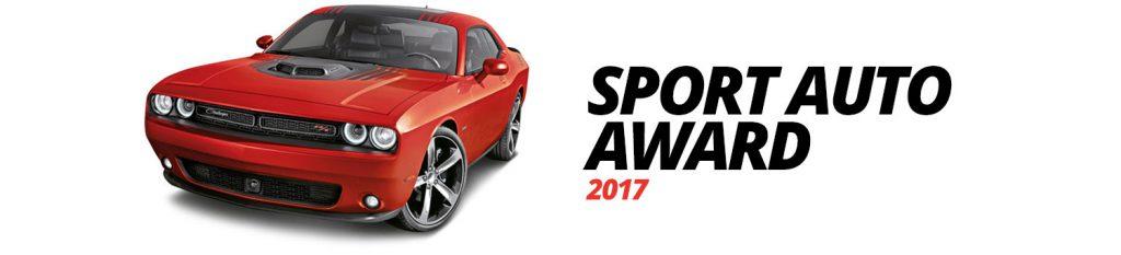 dodge challenger hauptpreis von sport auto award 2017