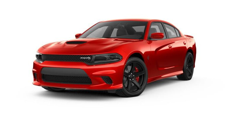 2018 Dodge Charger Hellcat flame red