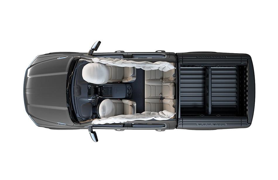 Advanced airbag technology pickups