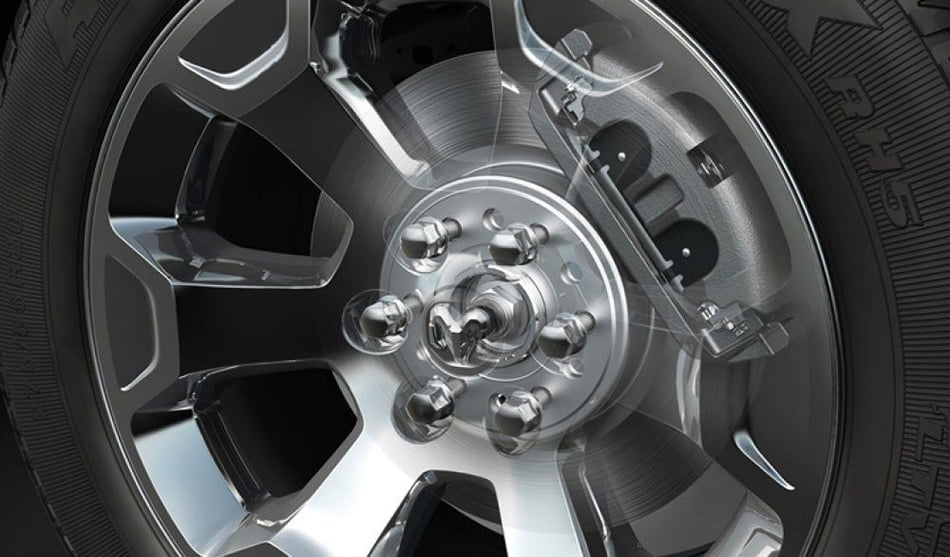 2019 RAM trucks with 14.9-inch brakes