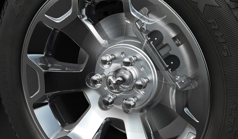 2019 RAM trucks with 14.9-inch brakes