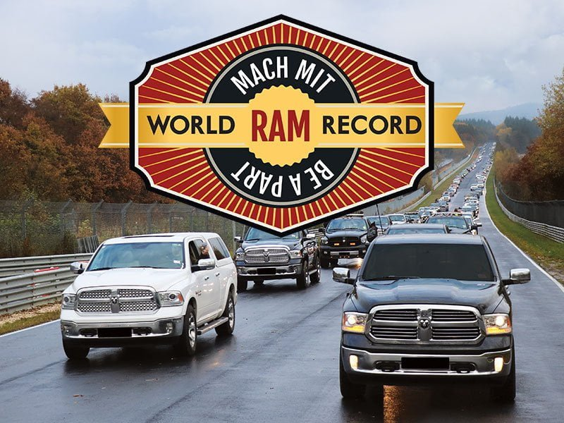 ram trucks guinness world record nürburgring 2016