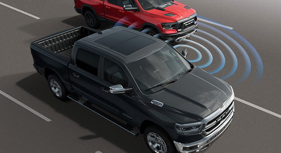 Lane departure warning on ram trucks 2019