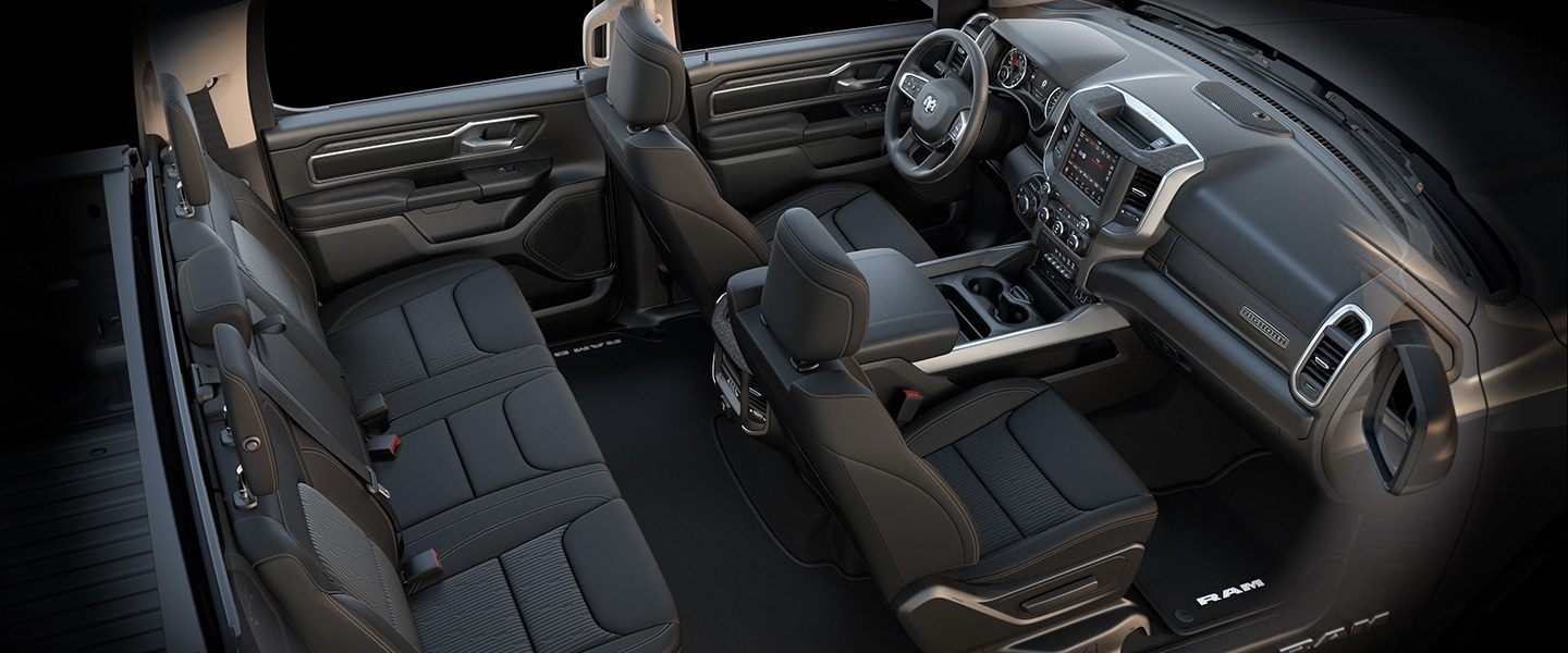 2019 Ram 1500 Interior Seats Big Horn Black Bucket