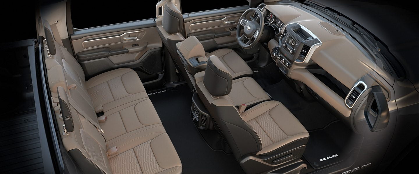 2019 Ram 1500 Interior Leather and Cloth Seats
