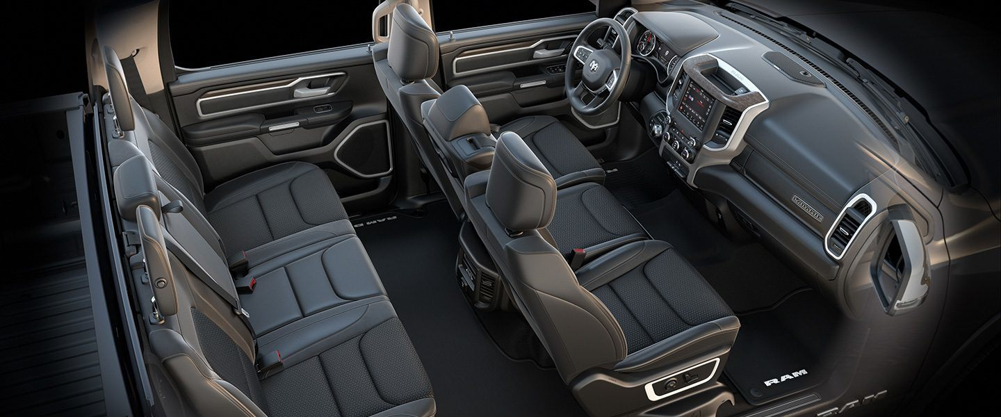 2019 Ram 1500 Interior Seats Laramie Black Bench