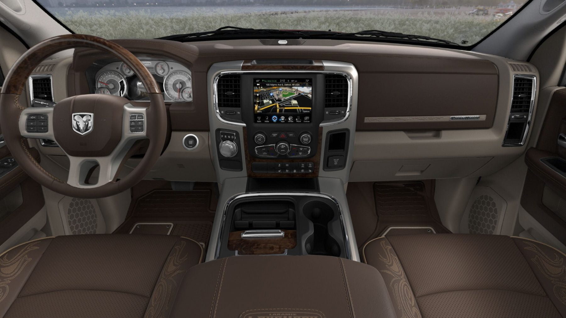 RAM 1500 interior seats longhorn