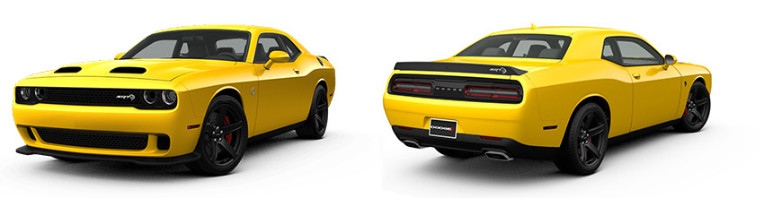 Dodge Challenger front and rear views