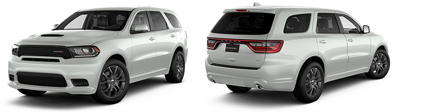 complete view of Dodge Durango american SUV imported in Europe