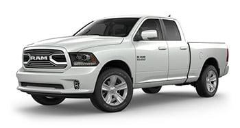 Ram 1500 pickup sport white