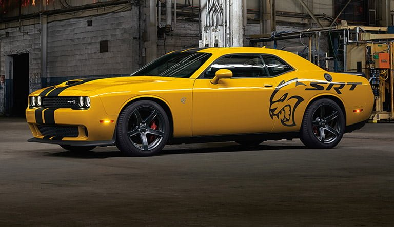 Dodge Charger muscle car with body logo