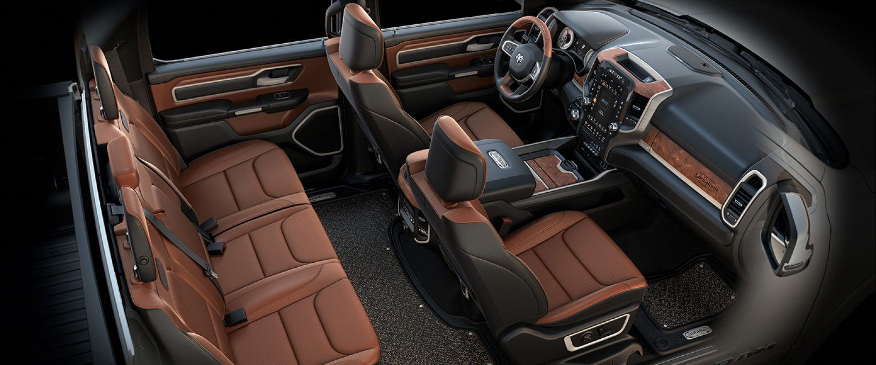 2019 Ram 1500 Interior Seats Longhorn black cattle tan
