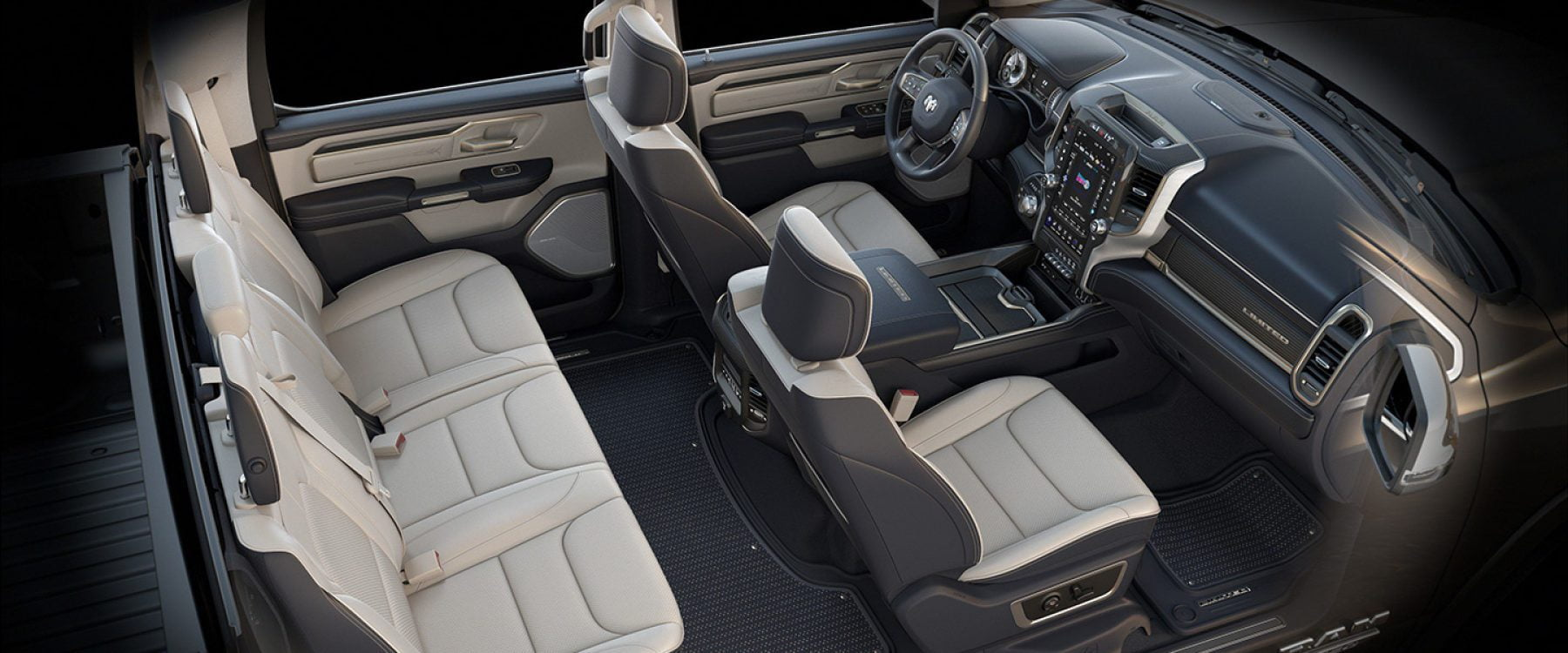 2019 Ram 1500 Interior Seats Limited Natura plus indico light frost beige