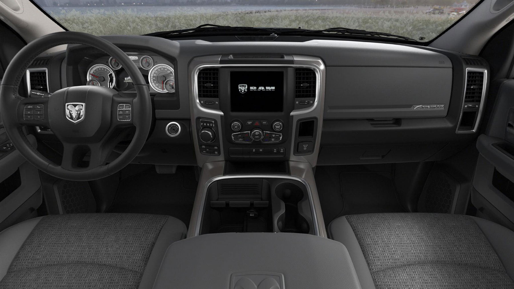 RAM 1500 SLT 2018 interior cloth bucket seats