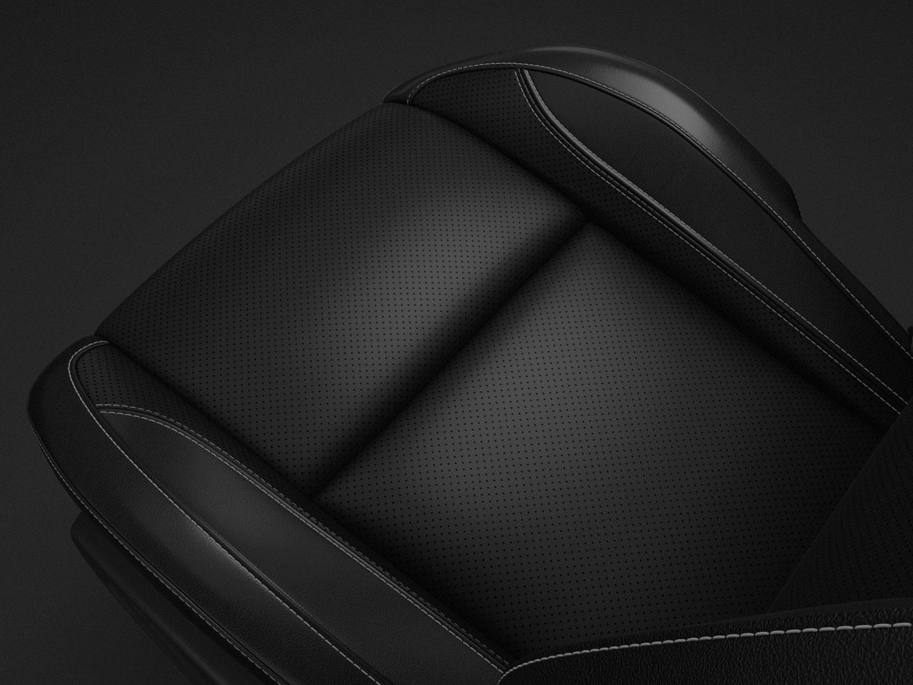black elegant leather seats dodge car