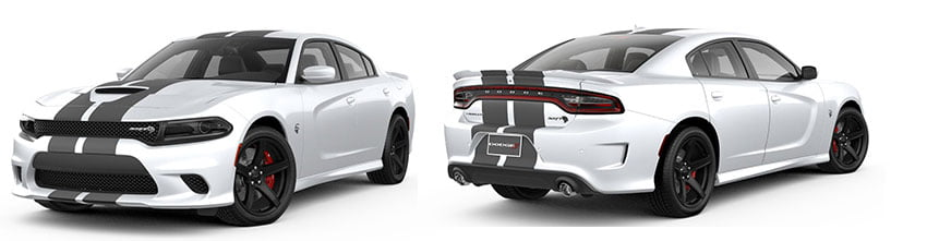 2019 Dodge Charger with striped hood sport appearance
