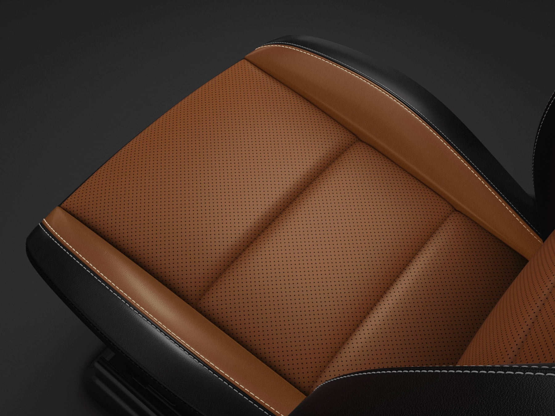 detail of dodge leather nappa performance