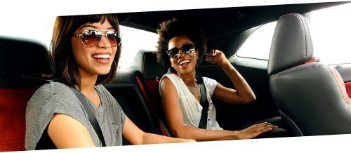 dodge challenger muscle car passenger seat