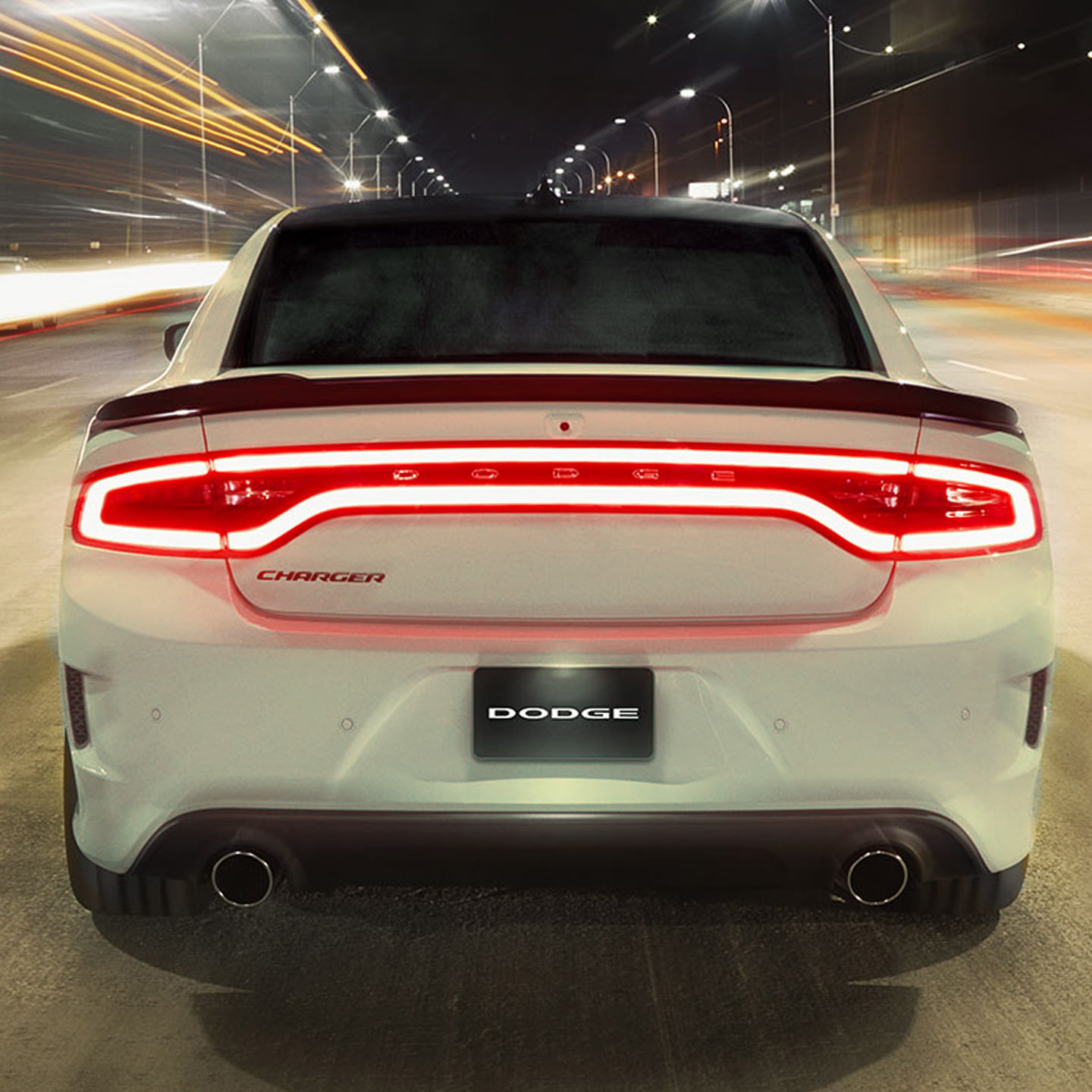 back LED lamps of white Charger