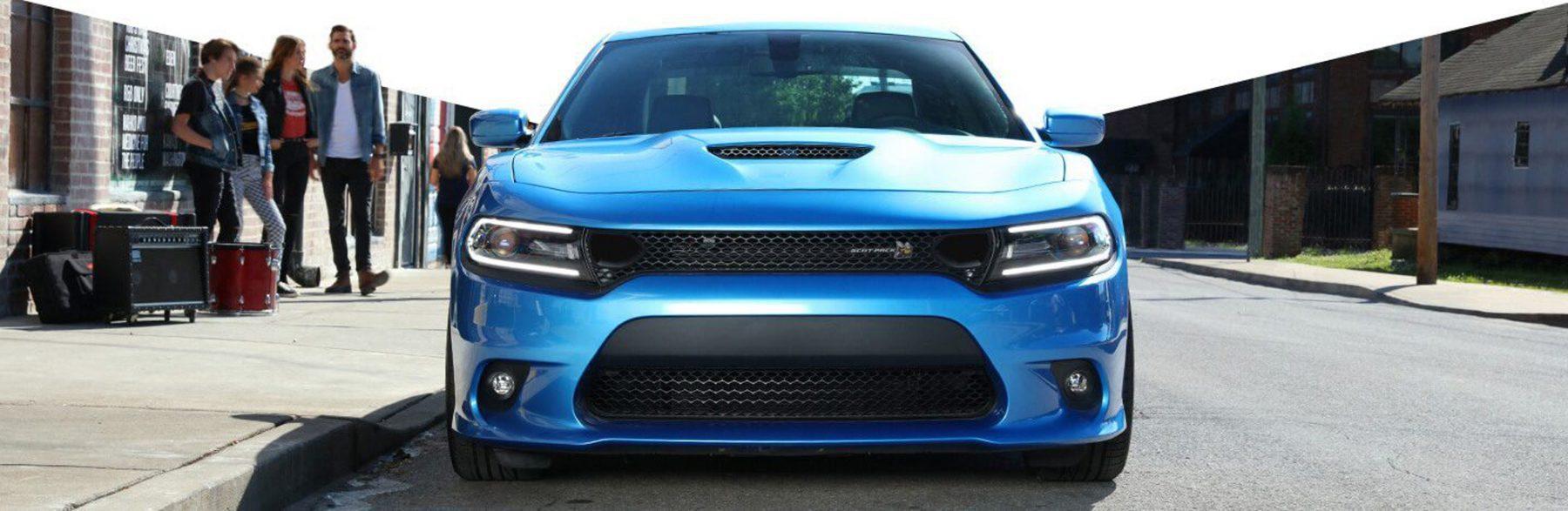 Blue Scat Pack Dodge Charger lights
