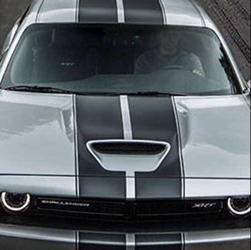 2019 dodge challenger srt hood stripes