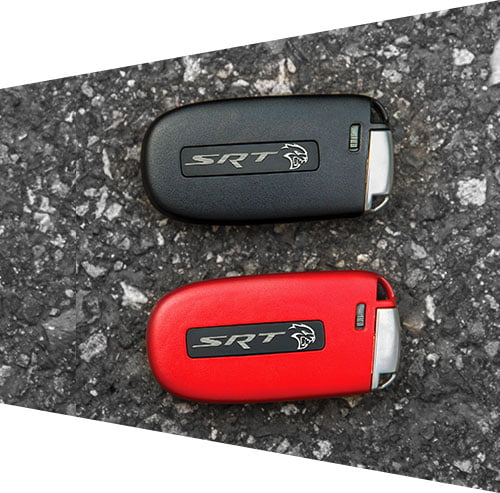 black and red keys
