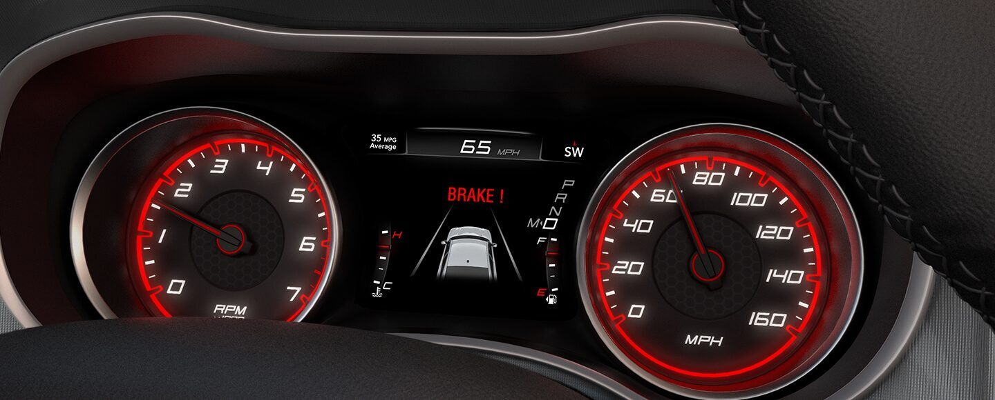 Dodge srt brake assistant display