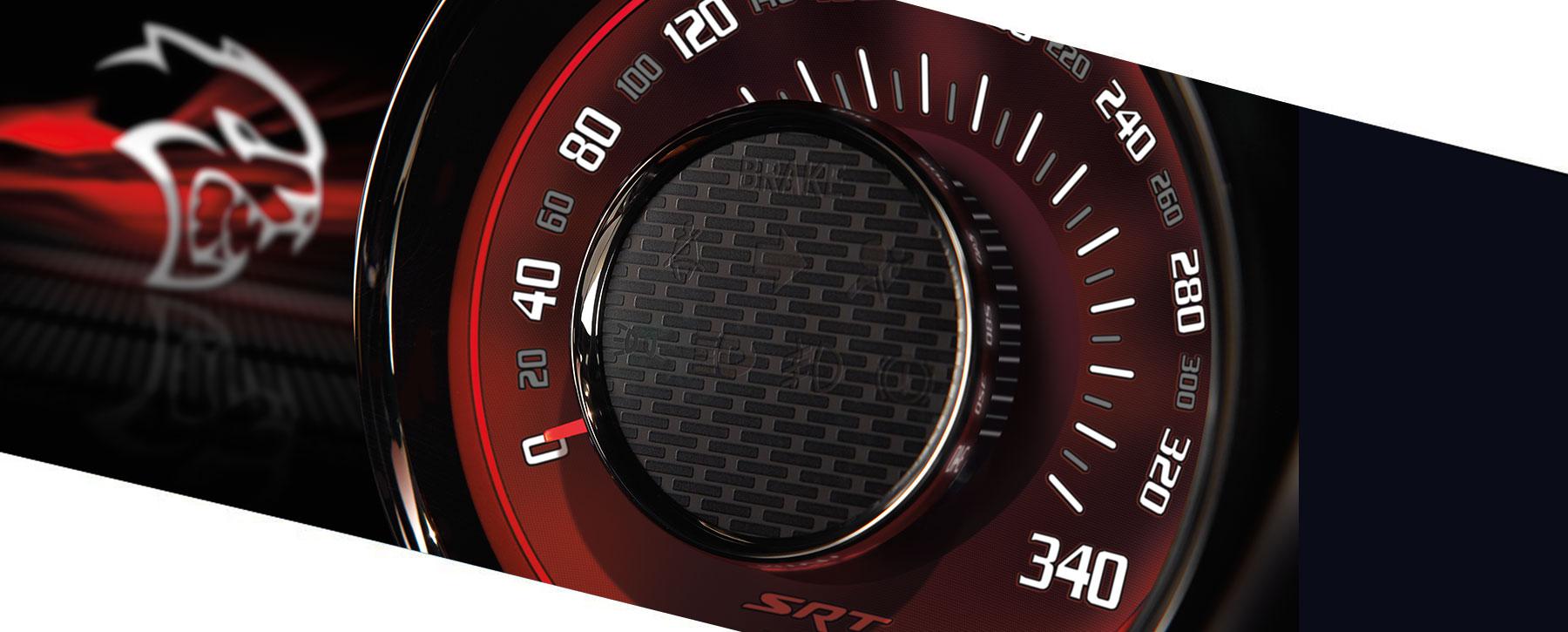 dodge hellcat speedometer 340 kmh