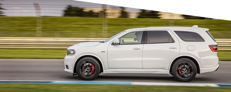 Side of white Dodge Durango