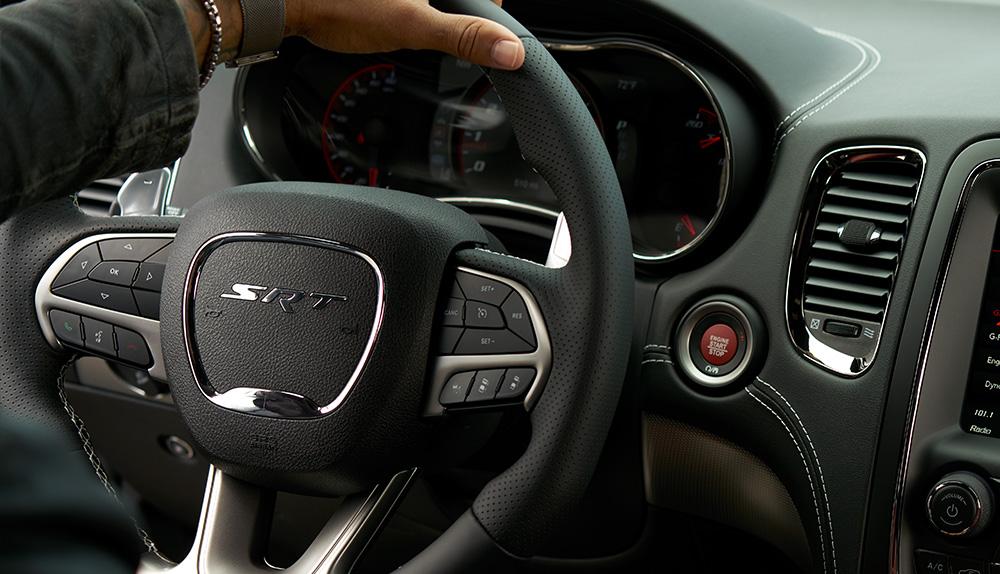Dodge Durango SRT leather steering wheel