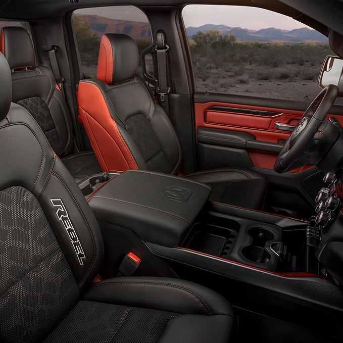 Black and red interior Ram rebel