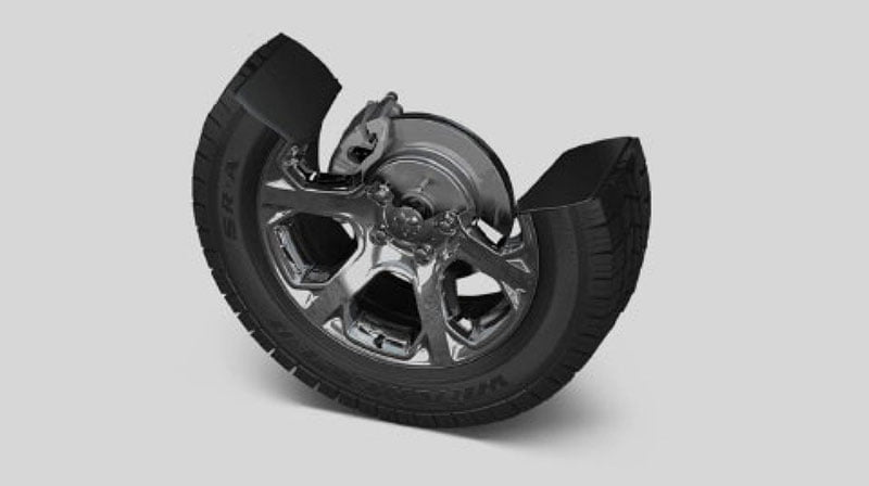 four-wheel disc antilock brakes