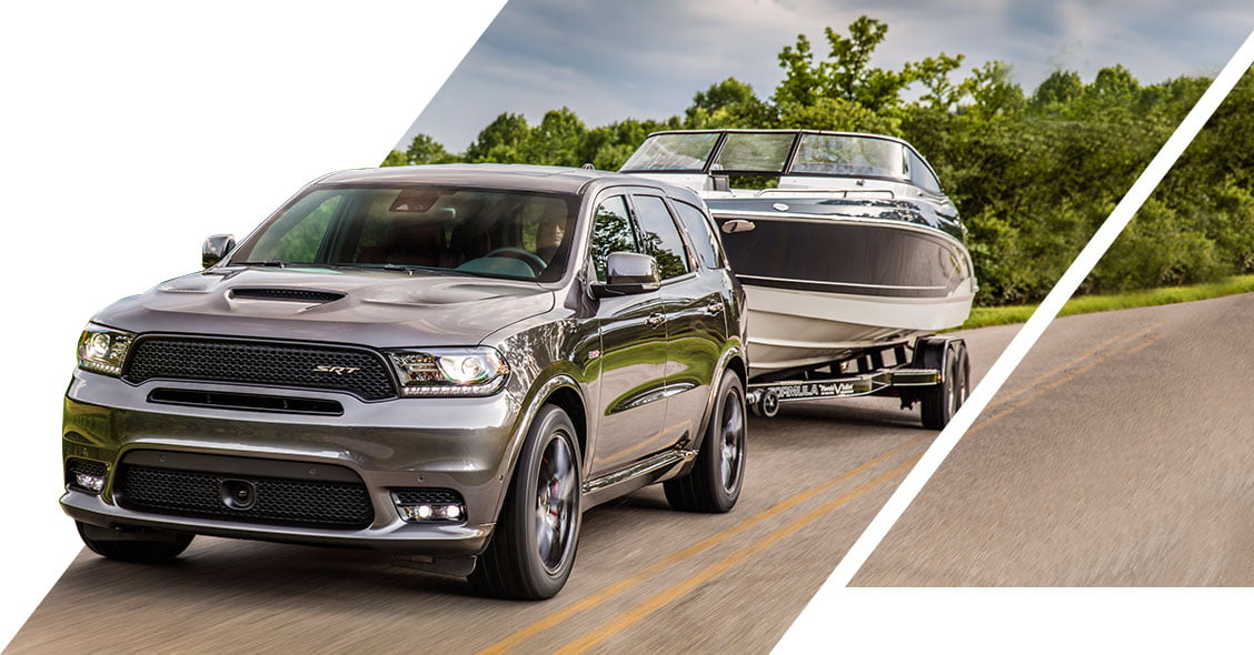 Dodge Durango SRT pulling boat AGT Europe