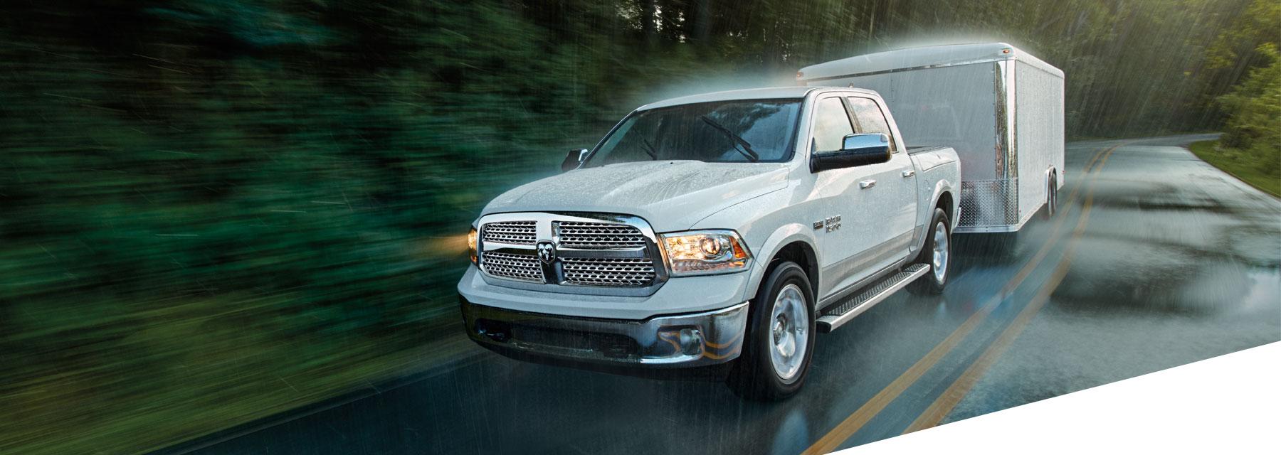Ram 1500 truck driving rain stability