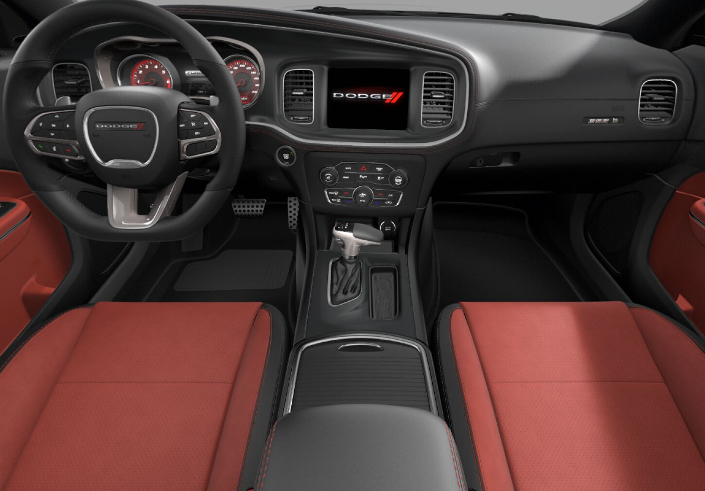 2020 Charger scat pack interior ruby red